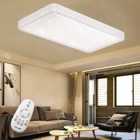 PLAFON LAMPA SUFITOWA KRYSZTAŁOWA 2 odcienie prostokąt lub kwadrat