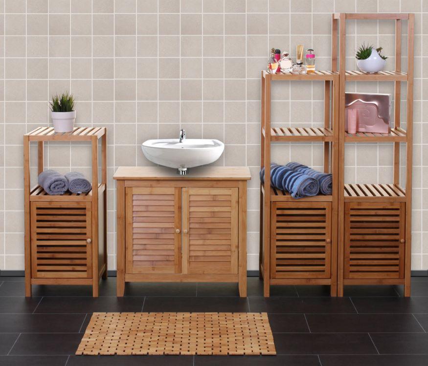 Zestaw Mebli łazienkowych Komplet Bambusowy Sklep
