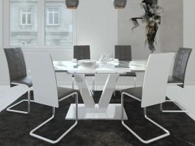 Stół rozkładany do jadalni salonu 160/200 biały lub biało-czarny
