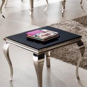 Ekskluzywny stolik kawowy szkło czarny