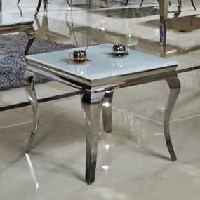 Ekskluzywny stolik kawowy mleczne szkło