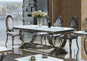 Ekskluzywny stół do jadalni 180 cm biały szkło