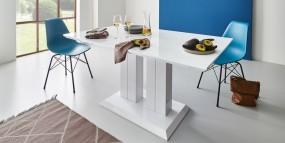 Stół do jadalni 180cm biały wysoki połysk
