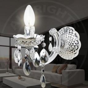 Kinkiet kryształowy lampa kryształowa ścienna dwa ramiona 5 KOLORÓW