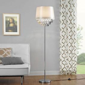 Lampa podłogowa stojąca kryształowa