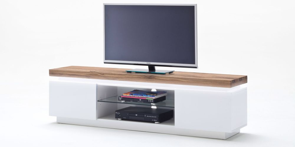Stolik Pod Tv Szafka Biała Mat 175cm Drewno