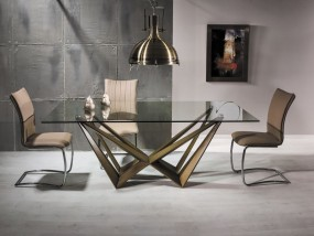 Nowoczesny szklany stół do jadalni lub salonu 200cm