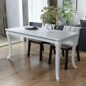 Stół do jadalni biały 120cm wysoki połysk