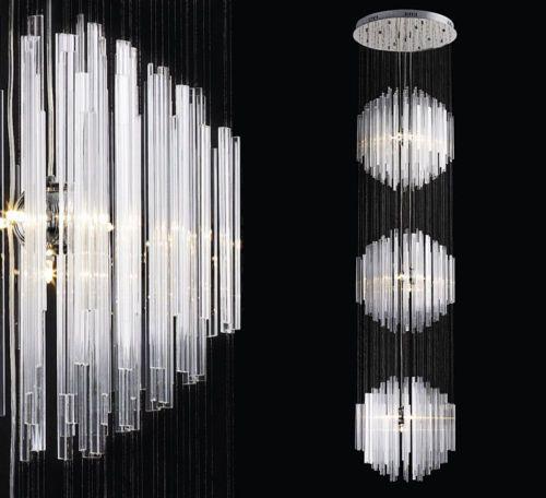 długie 3m lampy do salonu