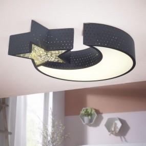 LAMPA SUFITOWA PLAFON KSIĘŻYC GWIAZDA LED HIT