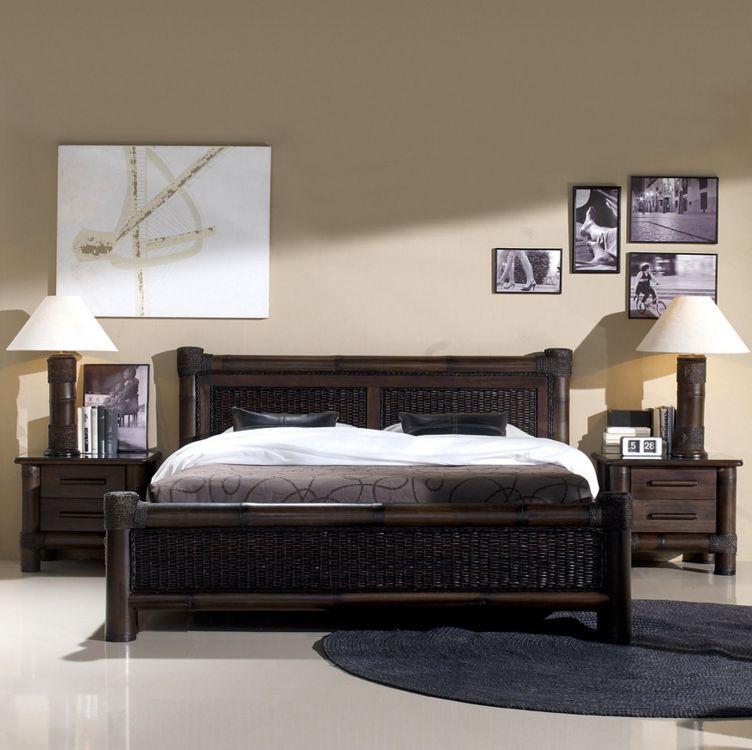 łóżko Bambusowe Rattanowe 160 X 200 Cm Tropicana Meble Design