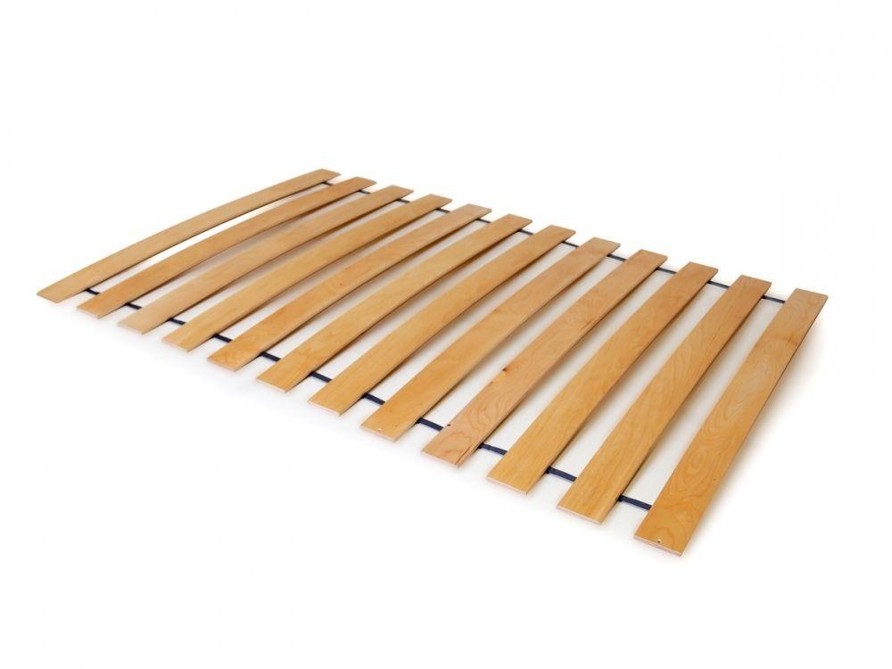 Stelaż Do łóżka 120 X 200 Cm Drewno Buk