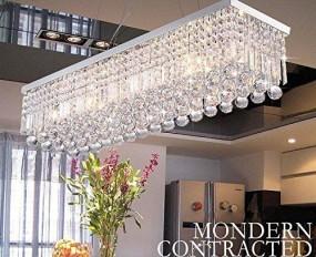 Lampa sufitowa kryształy 80cm salon