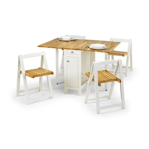 Meble Do Jadalni Składany Stół + 4 Krzesła Komplet