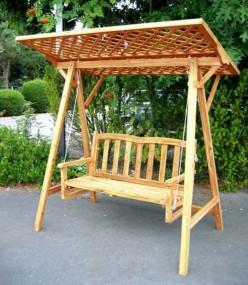 Huśtawka ogrodowa drewniana HIT