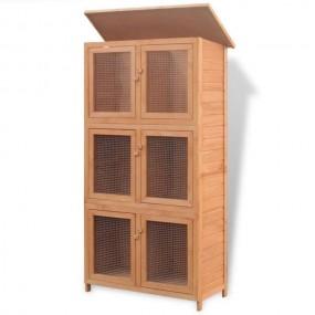 Klatka dla królików 3 piętra 6 pomieszczeń klatka dla zwierząt