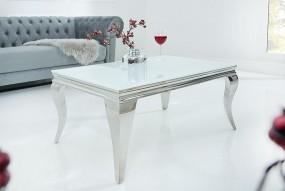 Ekskluzywny stolik kawowy szklany 100x60 cm mleczne szkło