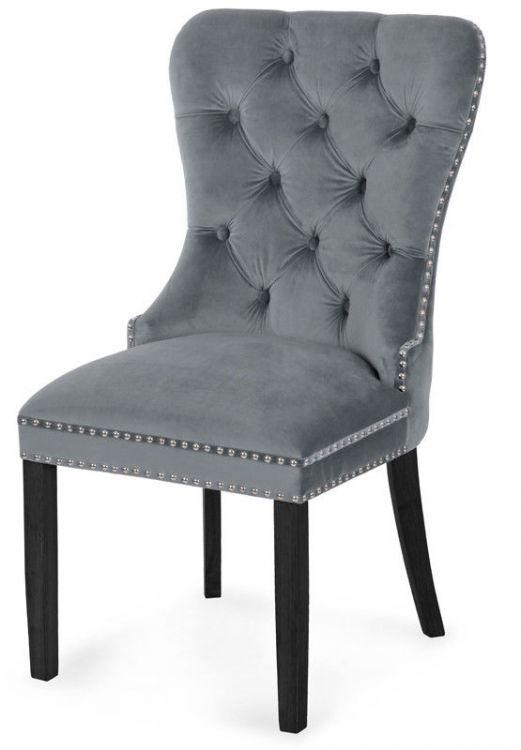 Krzesła Do Jadalni Chesterfield Eleganckie Tapicerowane Aksamit
