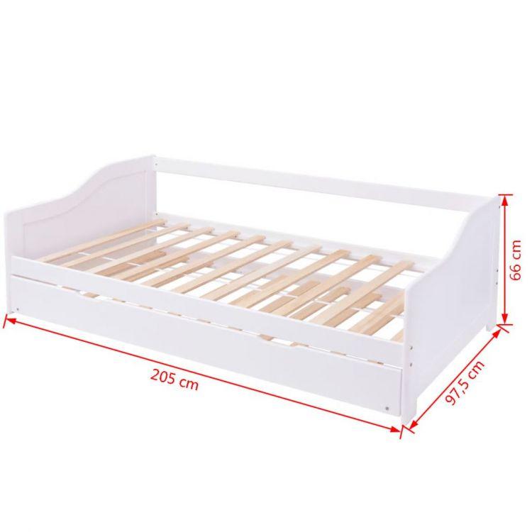 Sofa rozkładana kanapa łóżko sosna 200 x 90 cm - sklep ...
