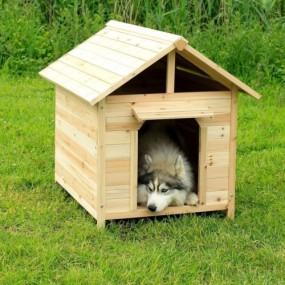 Drewniana buda dla psa klatka z drewna