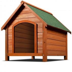 Drewniana buda dla psa klatka z drewna otwierany dach