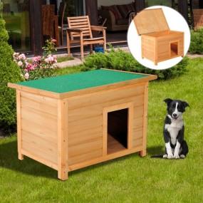 Drewniana buda dla psa klatka z drewna otwierany dach 85X58 CM