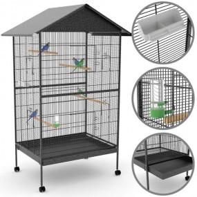 Woliera klatka dla papug i kanarków klatka dla zwierząt ptaków