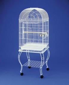 Woliera klatka dla ptaków metalowa klatka dla zwierząt BIAŁA