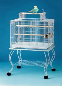 BIAŁA Woliera klatka dla ptaków metalowa klatka dla zwierząt