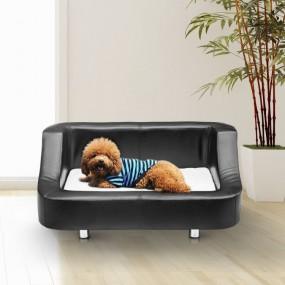 Legowisko dla psa kota kanapa leżanka czarna skóra łóżko