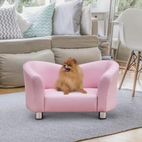 Legowisko dla psa kota różowe kanapa leżanka różowa skóra łóżko