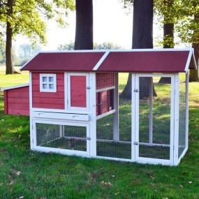 Kurnik drewniany klatka dla kur królików klatka dla zwierząt domek
