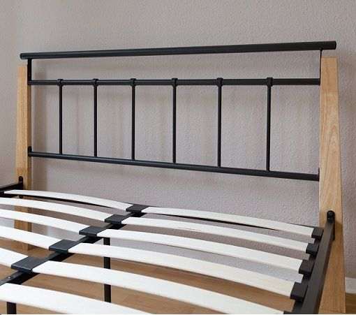 Podwójne Metalowe łóżko Do Sypialni Małżeńskie 140x200 Stelaż