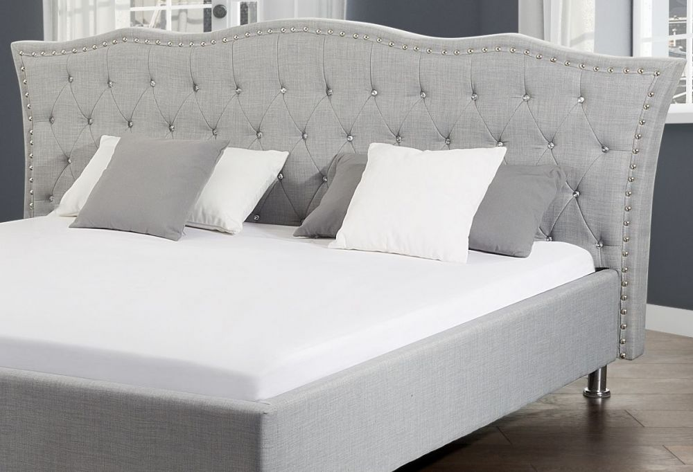 łóżko Małżeńskie Materiałowe Tapicerowane 140x200 180x200