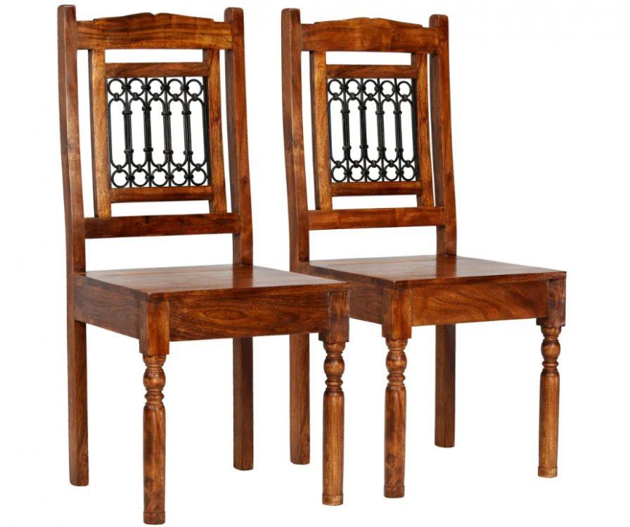 Zestaw Mebli 2 Krzesłastolik Drewniane Bistro Jadalnia