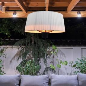 Lampa wisząca elektryczna 2w1 biała grzewcza grzejnik  do restauracji 1500 W