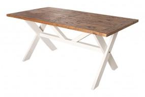 Stół do jadalni drewniany 180cm stolik ława drewno sosnowe biały vintage