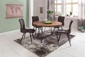Stół do jadalni drewniany 120cm stolik ława okrągła stół kuchenny metal