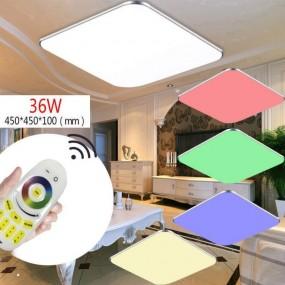 Lampa sufitowa LED zmiana koloru RGB 24W pilot do regulacji prostokąt plafon lampa ścienna
