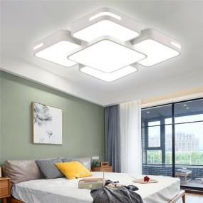 Lampa sufitowa nowoczesna plafon prostokątny 48W  ścienna zimna biel