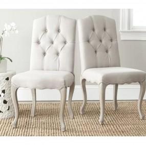 2 x krzesło fotel Chesterfield do jadalni LEN + NATURALNE DREWNO salon jadalnia