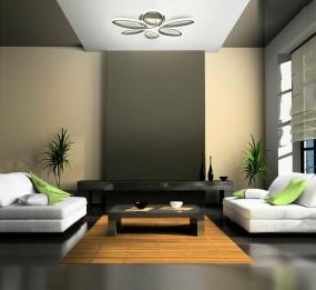 Lampa sufitowa Led duża srebrna plafon oświetlenie salon