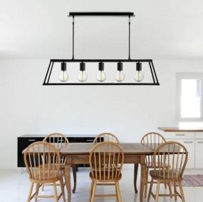 Lampa sufitowa wisząca przezroczysty SZKLANY KLOSZ duża styl industrialny HIT