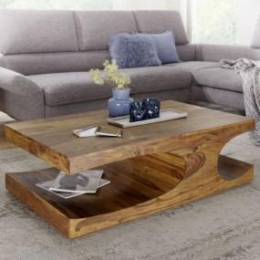 Masywny stolik stół kawowy do salonu ława 120 cm ręczne wykonanie naturalne drewno