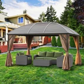 Altana pawilon ogrodowy poliwęglanowy moskitiery XXL namiot