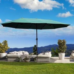 Ogromny parasol ogrodowy składany owalny  460 x 270 cm