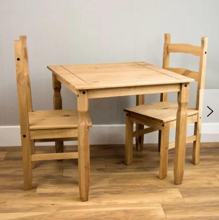 Stół Do Jadalni Kuchni Salonu Zestaw Stół 2 Krzesła Drewno