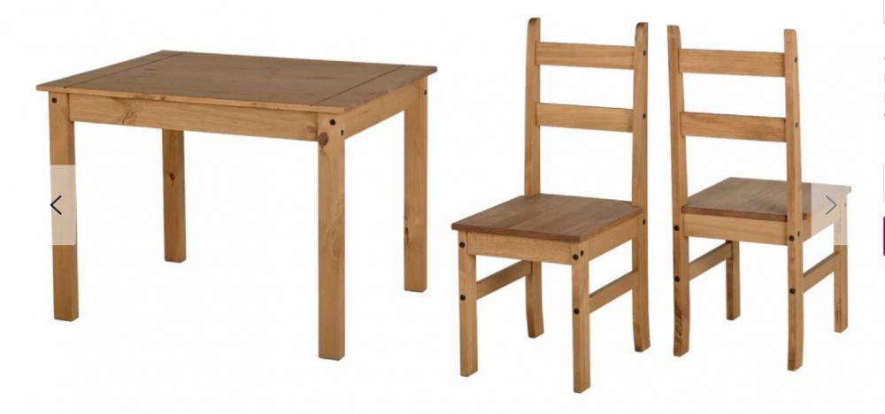 Stół Do Jadalni Kuchni Salonu Zestaw Stół 4 Krzesła Drewno Komplet Gruby Blat ława Stolik Drewno Sosnowe