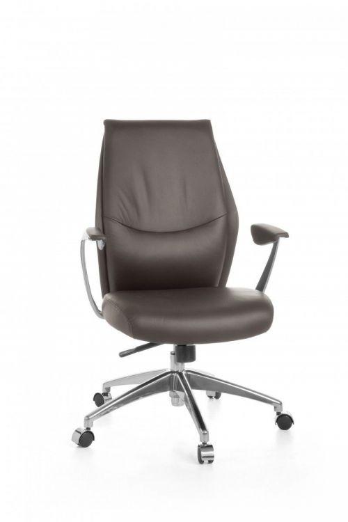 Fotel Biurowy Krzesło Biurowe Komputerowe Z Prawdziwej Skóry Fotel Obrotowy Do Biura Gabinetu Regulowana Wysokość 2 Kolory