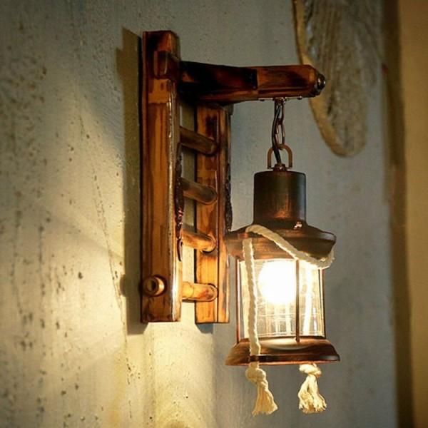 Lampa ścienna kinkiet RETRO w kształcie lampy olejnej vintage
